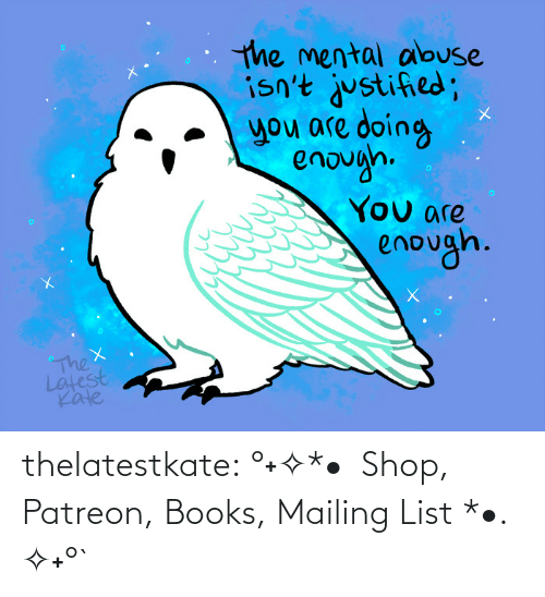 Do The Thing: thelatestkate:    °˖✧*•  Shop, Patreon, Books, Mailing List *•. ✧˖°`