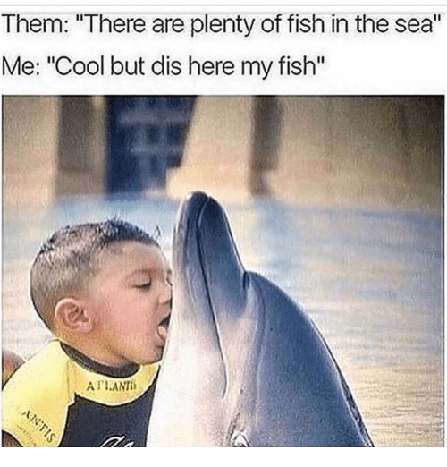 Them there are plenty of fish in the sea me cool but dis for Plenty of fish meme