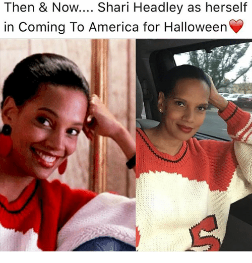 Shari: Then & Now.... Shari Headley as herself  in Coming To America for Halloweern