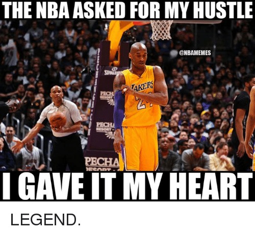 NBA: THENBA ASKED FOR MY HUSTLE  @NBAMEMES  TAKERS  IGAVEIT MY HEART LEGEND.