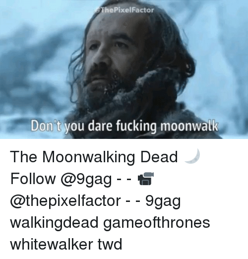 9gag, Fucking, and Memes: ThePixelFactor  Don't  Don't you dare fucking moonwalk The Moonwalking Dead 🌙Follow @9gag - - 📹 @thepixelfactor - - 9gag walkingdead gameofthrones whitewalker twd