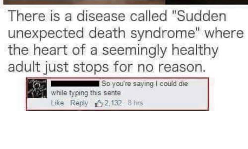 Not that Adult death sudden syndrome