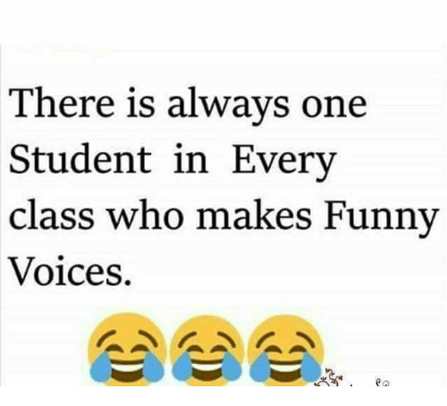 🤖: There is always one  Student in Every  class who makes Funny  Voices.