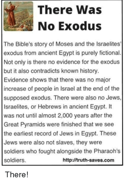 the story of moses and the liberation of the jews from egypt The exodus—the story of the israelites' deliverance from oppression in the land of egypt—is retold in the hebrew bible and in the new testamentscholars call such recurrences of the story's themes and language outside of the book of exodus the exodus tradition.