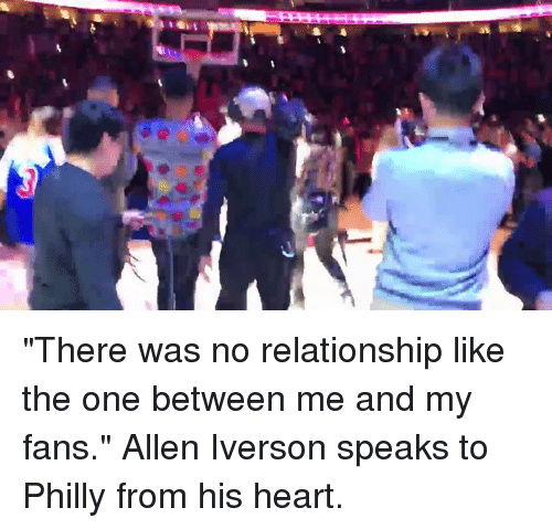 "Allen Iverson, Memes, and Iverson: ""There was no relationship like the one between me and my fans."" Allen Iverson speaks to Philly from his heart."