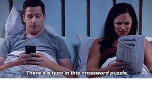 crossword: There's a typo in this crossword puzzle