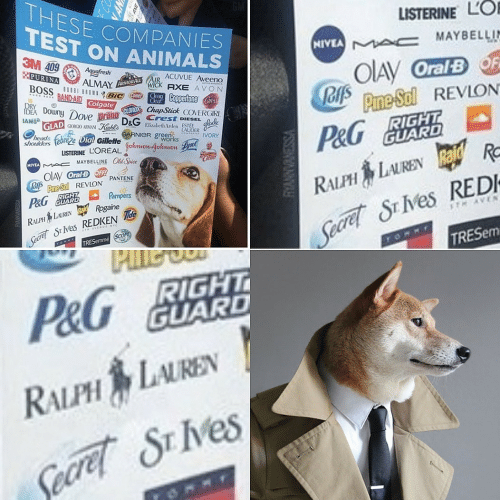 scope: THESE COMPANIES  TEST ON ANIMALS  LISTERINE LO  NIVEA A c MAYBELLIN  3M 409 Aquefresth  PURINA  OIAY OralBF  JOfs Prme Sol REVLON  ACUVUE Aveeno  ALMAY ARMORALWICK AXE AVON  BOSS  BROWNBIC meeaCoppertone Caress  BAND-AID Colgate  Clear  IDEA DownyDove prann CLOROX ChapStick COVERGIRL  IAMS GLAD GeG ARMAN  Kehe DeG Crest DIESEL  RIGHT  GUARD  Elizabeth Arden ESTEE  LAUDER  works  heads  shoukders  GARNIER green  P&G  Dial Gillette  IVORY  LISTERINE LOREAL ohwon-gohnion  MAYBELLINE Old Spice  MIVEA  OIAV OralB OFF  oA Pne-Sol REVLON PANTENE  P&G GUARD  RALPH LAURENRa R  Seare S Ves REDI  TRESEM  Pampers  RIGHT  Seare S ves REDKEN de  TRESemme SCOPE  RALPH LAUREN aid Rogaine  TH AVEN  THAVENGE NYC  P&G BIGHT  GUARD  RALPH LAUREN  Secret SE IVes  VSSENVANNA