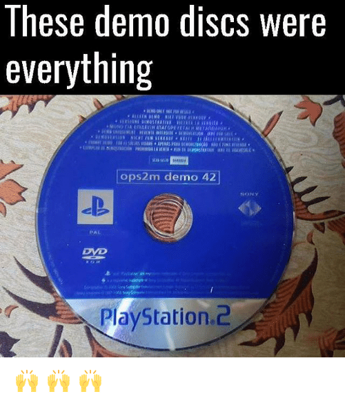 demos: These demo discs were  everything  4448  ops2m demo 42  SONY  PAL  Dye  PlayStation.2 🙌 🙌 🙌