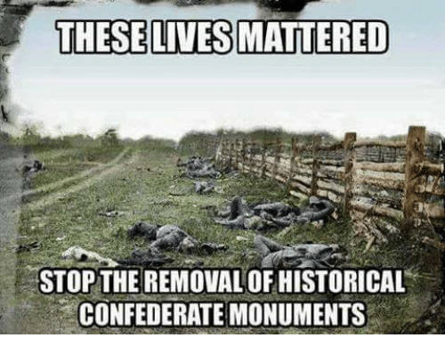 Memes, Confederate, and Historical: THESE LIVES MATTERED  STOP THE REMOVAL OF HISTORICAL  CONFEDERATE MONUMENTS