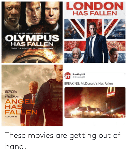 Getting Out: These movies are getting out of hand.