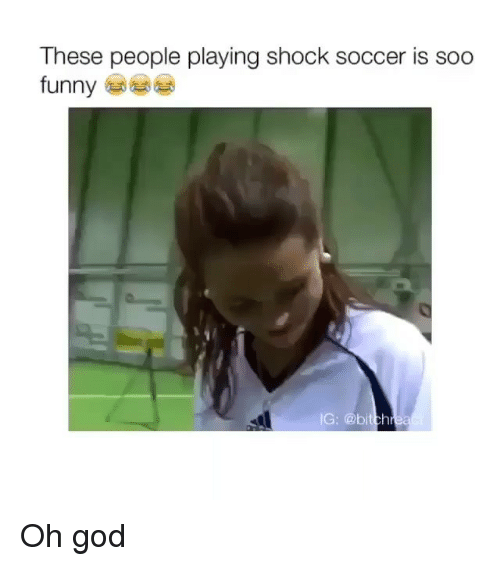 Funny: These people playing Shock Soccer is Soo  funny  IG: @bit Oh god