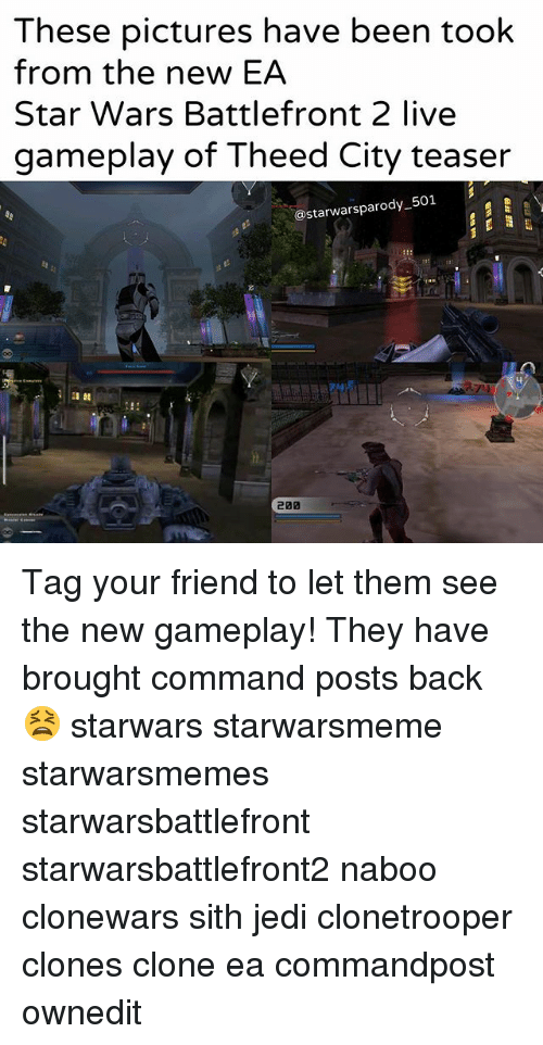 battlefront 2: These pictures have been took  from the new EA  Star Wars Battlefront 2 live  gameplay of Theed City teaser  astarwarsparody 501 Tag your friend to let them see the new gameplay! They have brought command posts back😫 starwars starwarsmeme starwarsmemes starwarsbattlefront starwarsbattlefront2 naboo clonewars sith jedi clonetrooper clones clone ea commandpost ownedit