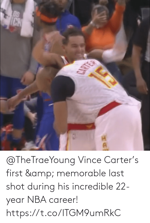 career: @TheTraeYoung Vince Carter's first & memorable last shot during his incredible 22-year NBA career!   https://t.co/ITGM9umRkC