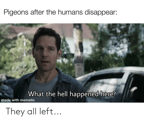 Dank Memes: They all left...