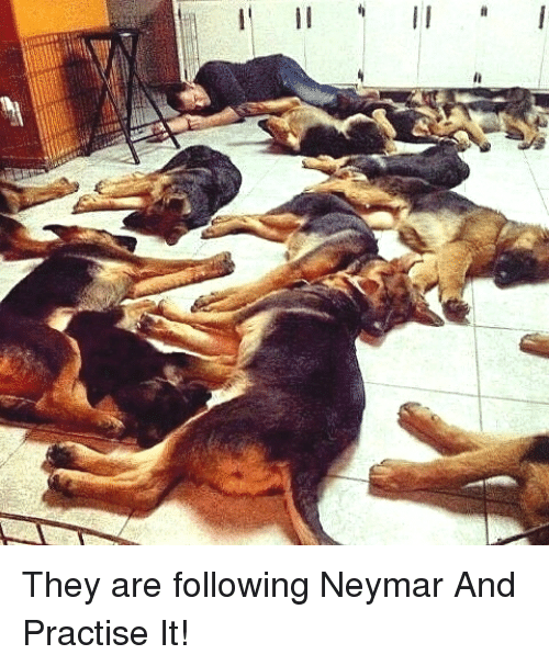 Neymar, Rest, and Following: They are following Neymar And Practise It!