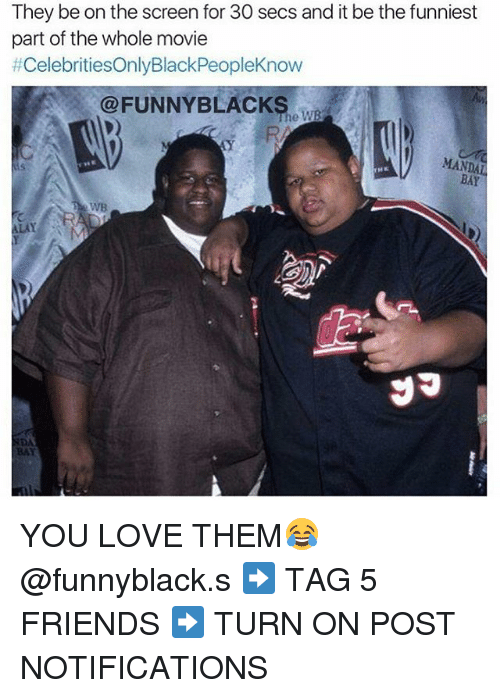 Dank Memes: They be on the screen for 30 secs and it be the funniest  part of the whole movie  #CelebritiesOnlyBlackPeopleKnow  @FUNNY BLACKS.  MANDAL YOU LOVE THEM😂 @funnyblack.s ➡️ TAG 5 FRIENDS ➡️ TURN ON POST NOTIFICATIONS