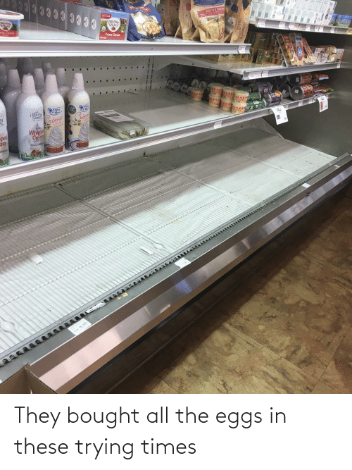 eggs: They bought all the eggs in these trying times