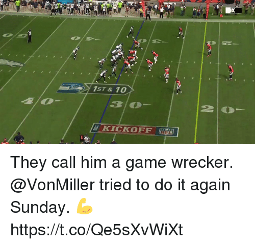 Do It Again, Memes, and Game: They call him a game wrecker.  @VonMiller tried to do it again Sunday. 💪 https://t.co/Qe5sXvWiXt