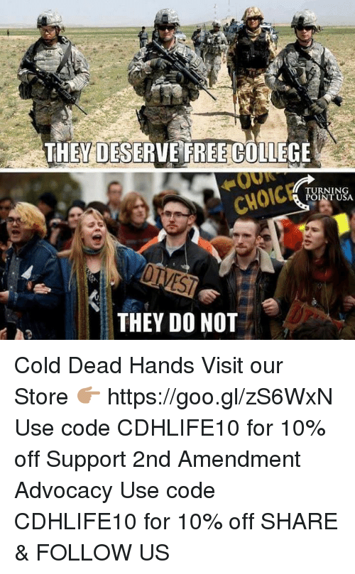 cold-dead-hands: THEY DO NOT  TURNING  POINT USA Cold Dead Hands  Visit our Store 👉🏽 https://goo.gl/zS6WxN Use code CDHLIFE10 for 10% off Support 2nd Amendment Advocacy Use code CDHLIFE10 for 10% off SHARE & FOLLOW US