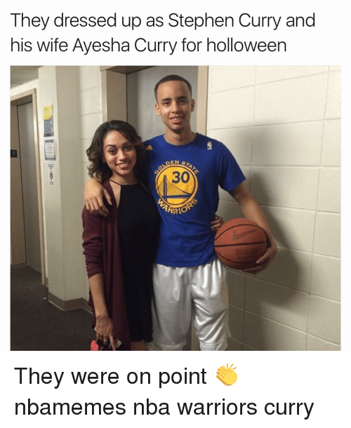 Ayesha Curry, Basketball, and Nba: They dressed up as Stephen Curry and  his wife Ayesha Curry for holloween  DEN  S  ARRIO They were on point 👏 nbamemes nba warriors curry
