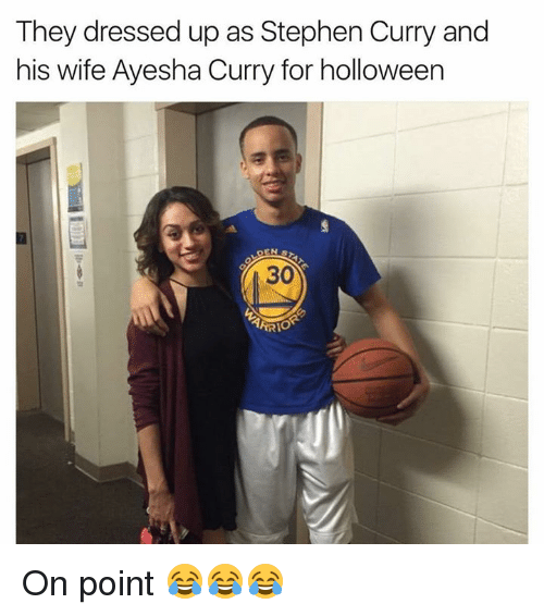 Ayesha Curry, Stephen, and Stephen Curry: They dressed up as Stephen Curry and  his wife Ayesha Curry for holloween On point 😂😂😂