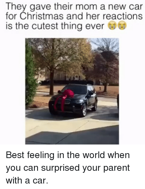 they gave their mom a new car for christmas and her reactions is the cutest thing ever best. Black Bedroom Furniture Sets. Home Design Ideas