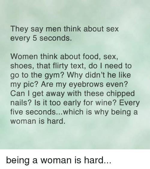 Information Do women think about sex goes beyond