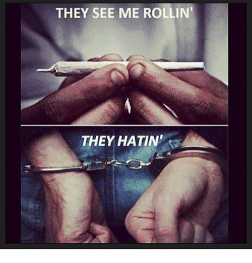 """rollins: THEY SEE ME ROLLIN'  THEY HATIN"""""""