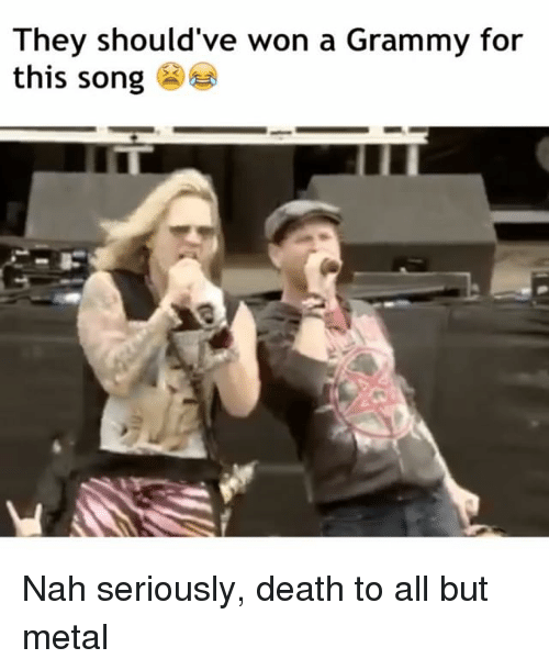 Memes, Death, and Grammy: They should've won a Grammy for  this song Nah seriously, death to all but metal