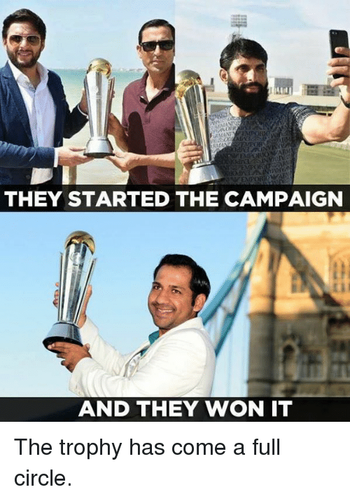Memes, 🤖, and They: THEY STARTED THE CAMPAIGN  AND THEY WON IT The trophy has come a full circle.