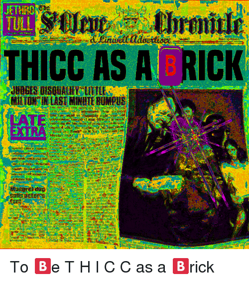 C&c, Ing, and Extra: THICC AS A  RICK  ing the blind  EXTRA  suts acto