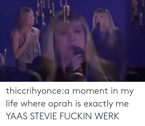 werk: thiccrihyonce:a moment in my life where oprah is exactly me  YAAS STEVIE FUCKIN WERK