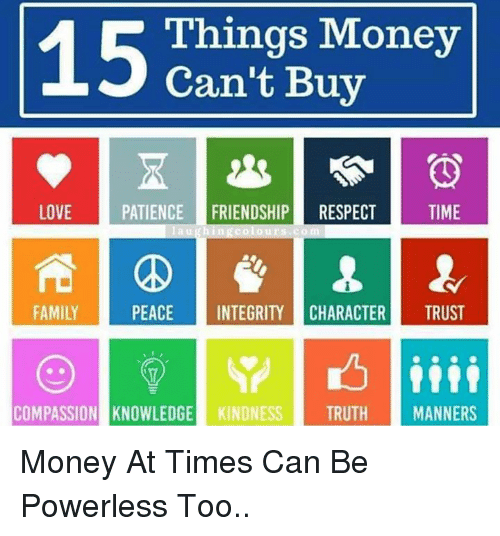 Money can't buy time essay