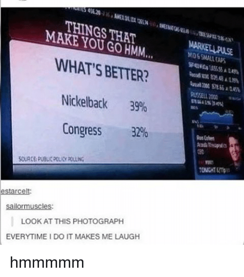 Look At This Photograph: THINGS THAT  MAKE YOU HMM...  WHAT'S BETTER?  Nickelback  39%  Congress  32%  estarcelt  sailormuscles:  LOOK AT THIS PHOTOGRAPH  EVERYTIME I DO IT MAKES ME LAUGH hmmmmm