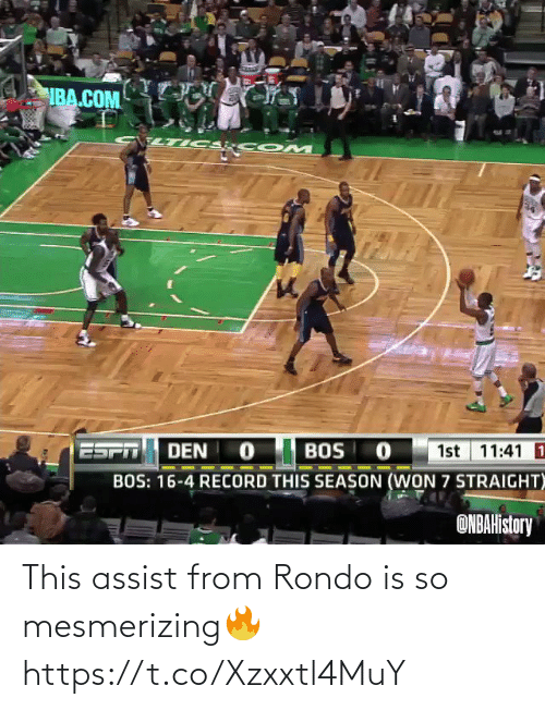 rondo: This assist from Rondo is so mesmerizing🔥 https://t.co/Xzxxtl4MuY