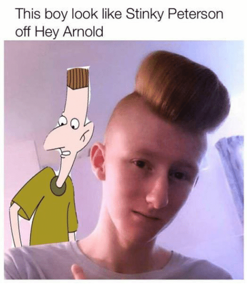 hey arnold: This boy look like Stinky Peterson  off Hey Arnold
