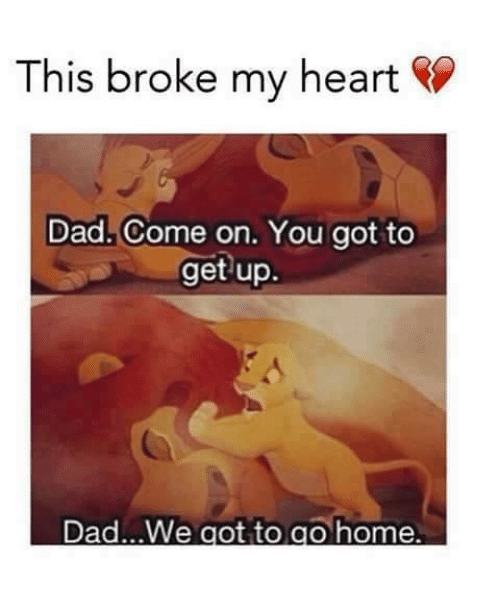 My dad comes home