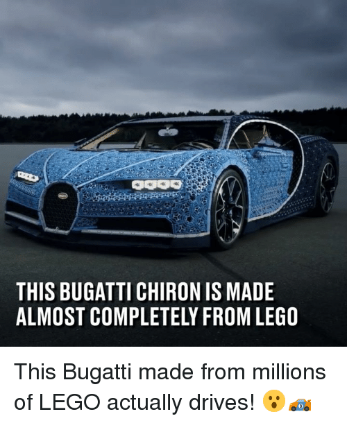 Bugatti: THIS BUGATTI CHIRON IS MADE  ALMOST COMPLETELY FROM LEGO This Bugatti made from millions of  LEGO actually drives! 😮🏎