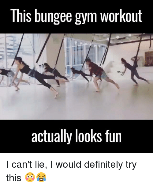 I Cant Lie: This bungee gym workout  actually looks fun I can't lie, I would definitely try this 😳😂