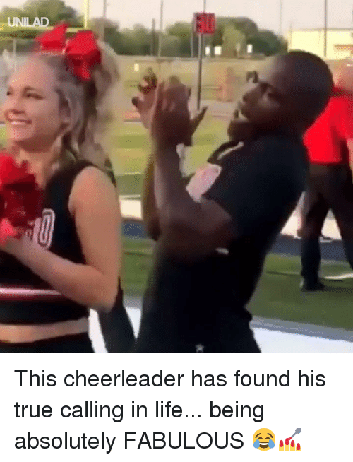Dank, Life, and True: This cheerleader has found his true calling in life... being absolutely FABULOUS 😂💅