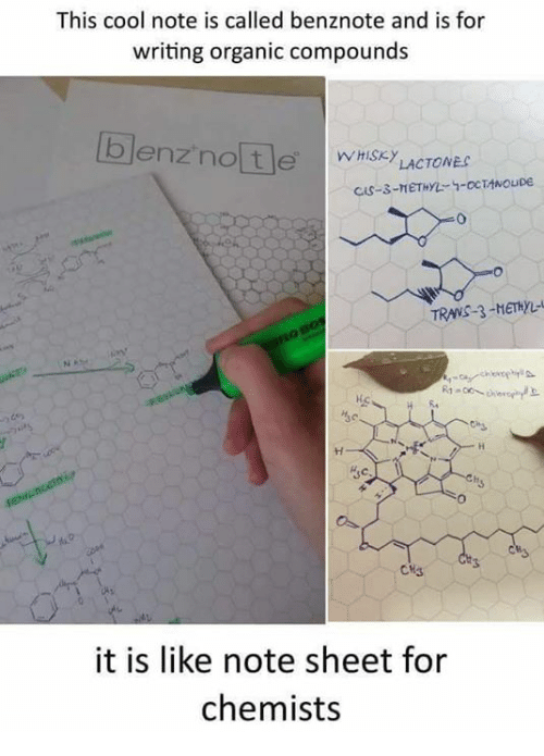 Memes, Cool, and 🤖: This cool note is called benznote and is for  writing organic compounds  TRANS-3-METHL-  뉘  3c  CH3  it is like note sheet for  chemists