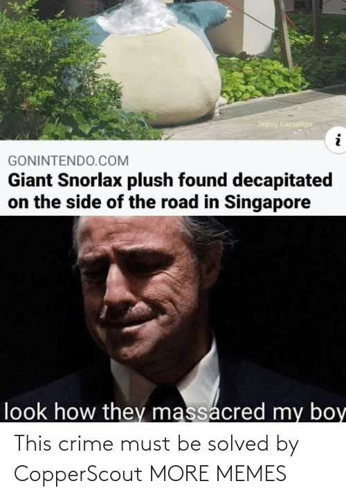 Crime: This crime must be solved by CopperScout MORE MEMES