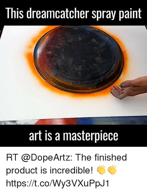 This dreamcatcher spray paint art is a masterpiece rt the for Dream catcher spray painting