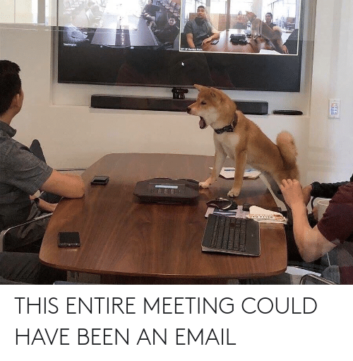 Email, Been, and This: THIS ENTIRE MEETING COULD HAVE BEEN AN EMAIL