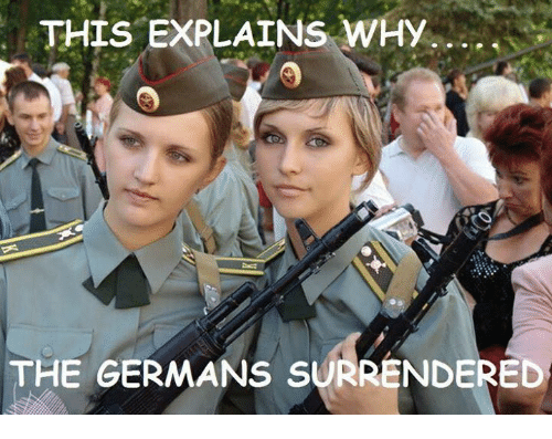 Surrend: THIS EXPLAINS WHY  THE GERMANS SURRENDERED
