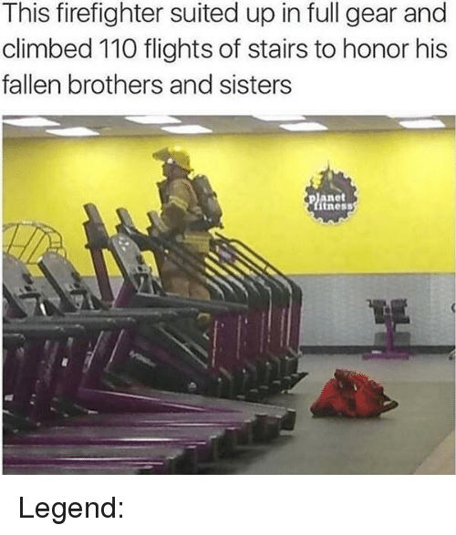 Andrew Bogut, Firefighter, and Legend: This firefighter suited up in full gear and  climbed 110 flights of stairs to honor his  fallen brothers and sisters  net  ness Legend: