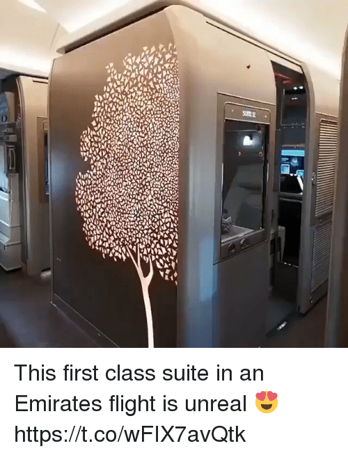 Emirates, Flight, and Relatable: This first class suite in an Emirates flight is unreal 😍 https://t.co/wFIX7avQtk
