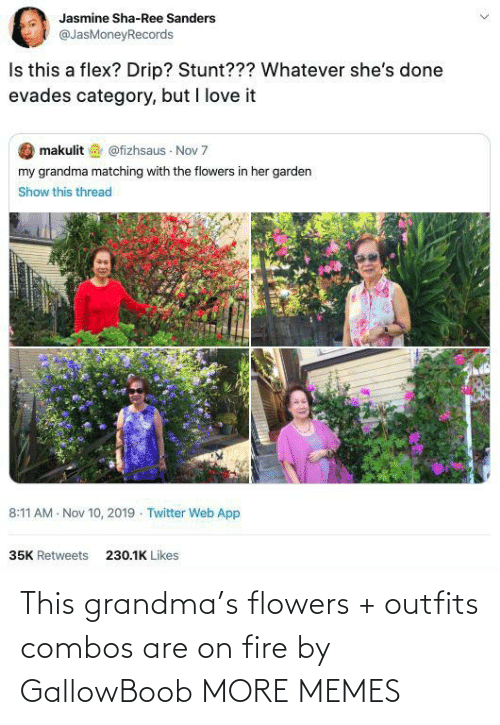 outfits: This grandma's flowers + outfits combos are on fire by GallowBoob MORE MEMES