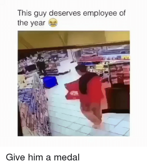 Memes, 🤖, and Him: This guy deserves employee of  the year Give him a medal