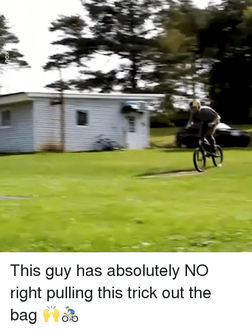 Dank, 🤖, and This: This guy has absolutely NO right pulling this trick out the bag 🙌🚴